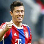 Voetballer Robert Lewandowski scoort 5 goals in 9 minuten