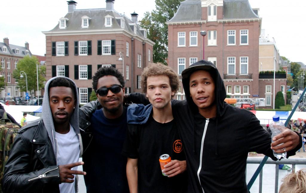 Met de boys op de foto