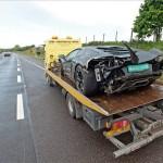 Lamborghini Huracan crasht met 320 km/h
