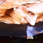 Deze prachtige 3-D animatie hangt boven de SLS bar in Las Vegas