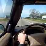 Dashcam: flauwvallen tijdens het autorijden