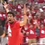Aspirerende basketballer wint studietoelage als hij deze bal kan raken