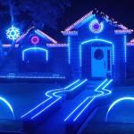 De 'Dubstep Christmas Light Show' van de familie Johnson wint kerstmis
