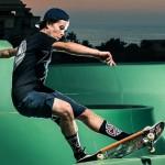 Skateboarders gaan los in een stilgelegd waterpark in Dubai