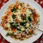 Vandaag op het menu: de verse pastasaus tomaat olijf van de Albert Heijn!
