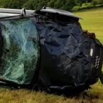 Scheurende Audi RS3 bestuurder crasht met 200 km/h op Circuit de Chimay