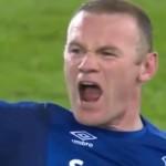 Wayne Rooney scoort ongelooflijke goal tegen Everton vanaf eigen helft