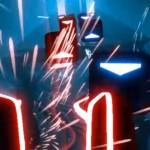 In de virtual reality-game Beat Saber speel je Guitar Hero met lightsabers