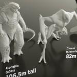 Het formaat van de meest bekende (film)monsters naast elkaar vergeleken