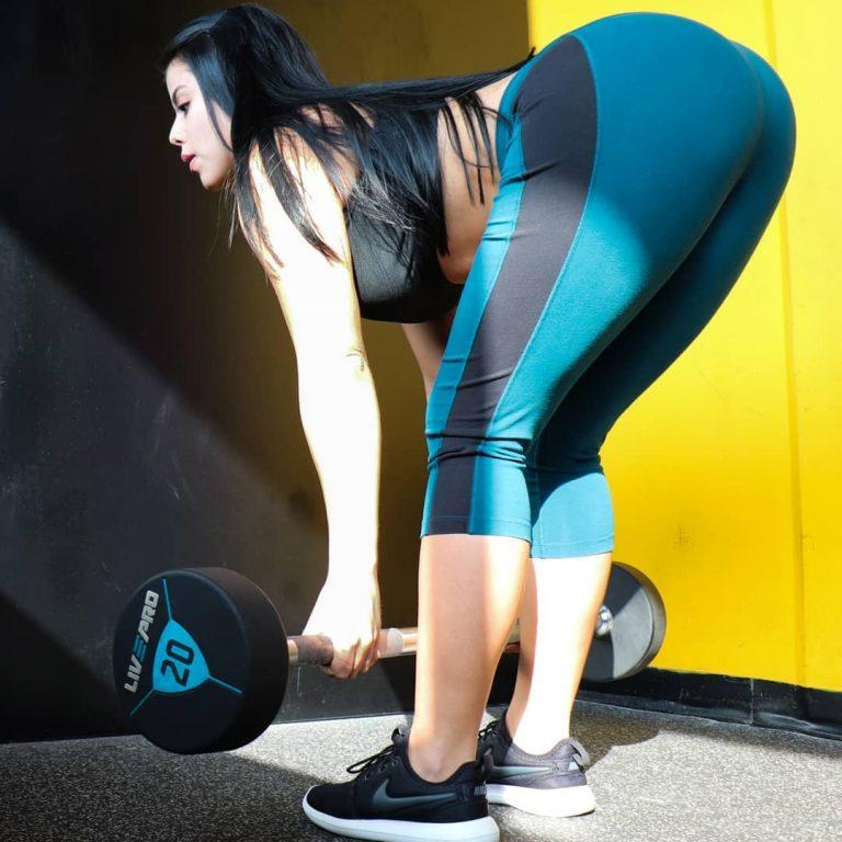 Fitgirl Steffy Moreno heeft die typerende Colombiaanse