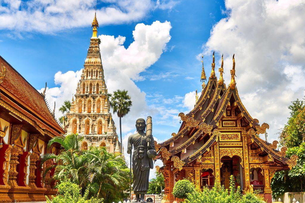 gouden tempels tijdens rondreis thailand